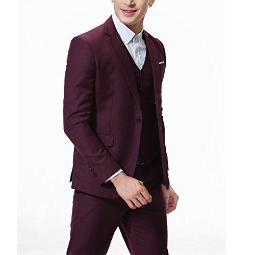 Party Gilet De Mariage Costumes Costume Blazer Rouge 1 3 Pantalon Allthemen Pcs Hommes YWzOFqzS