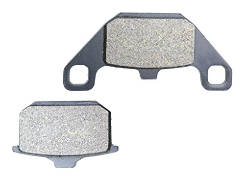 Price comparison product image CNBK Front Left Brake Pad Resin for KAWASAKI Street Bike VN750 VN 750 A2-A13 Vulcan VN750A E097 86 87 88 89 90 91 92 1986 1987 1988 1989 1990 1991 1992 1 Pair(2 Pads)