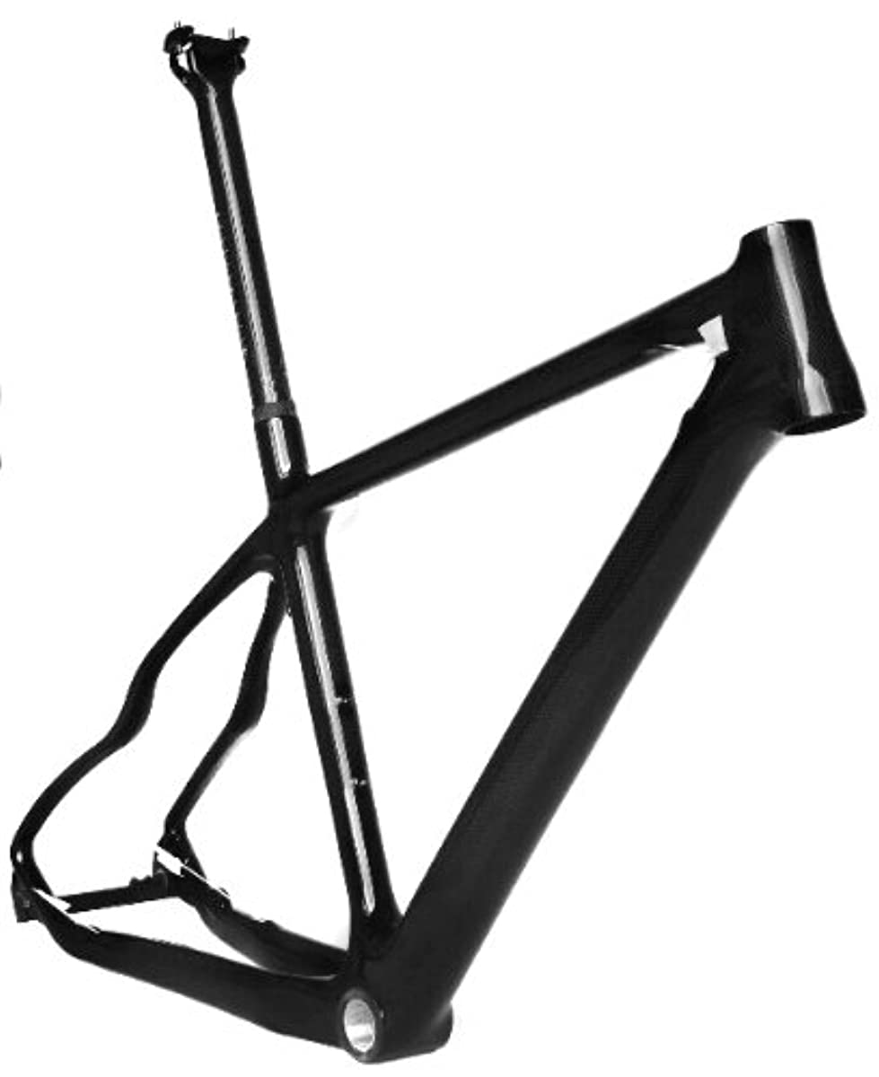 [해외] 풀 카본 3K 광택 26ER 산악자전거 MTB 26인치 휠 BSA프레임 씨트 포스트 17인치