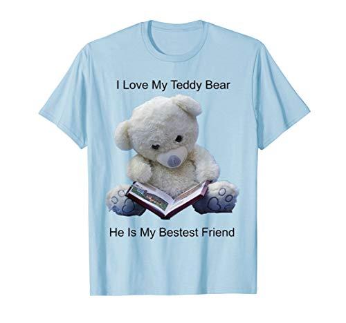 Teddy Bear Shirt I Love My Teddy Bear Reading Book LG Alt]()