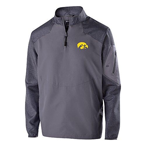 Ouray Sportswear NCAA Iowa Hawkeyes Raider Pullover, Large, Carbon Print/Graphite