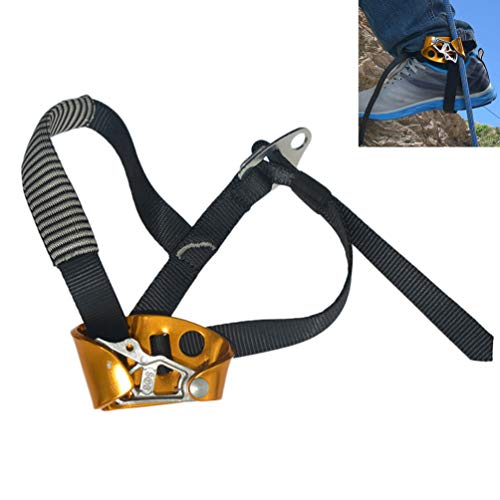 Foot Ascender Stainless Steel Mountaineering Equipment Climbing Rope Device with Foot Pad for Engineering Protection. Fire Rescue - Right