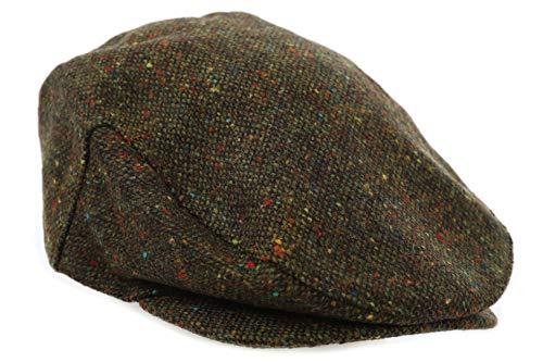 Military Tweed Hat - Biddy Murphy Tweed Cap Green Fleck John Hanly Made in Ireland Small