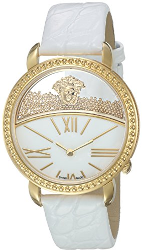Versace-Womens-KRIOS-Swiss-Quartz-Stainless-Steel-and-Leather-Casual-Watch-ColorWhite-Model-VAS010016