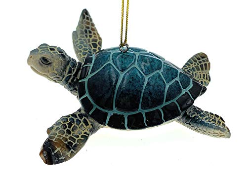 Beach Themed Christmas Ornaments Globe Imports – Sea Turtle Christmas Ornaments Bundle – 1 Blue and 1 Green Hanging Ornaments beach themed christmas ornaments