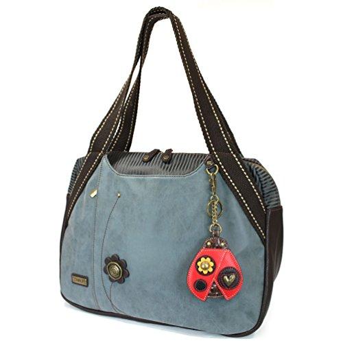 Chala Handbag Bowling Zip Tote Garden Creature Collections (Lady Bug)