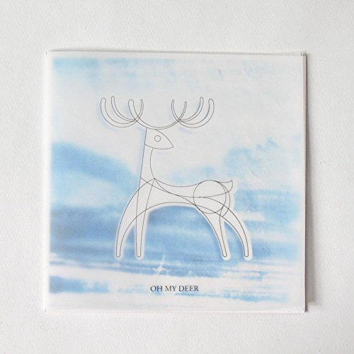 DIY Coloring Card - Oh, My Deer for Valentine's Day and Lover, Romantic Card to Express Your Love, - mountain
