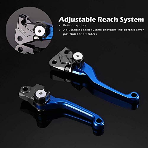 JFG RACING Billet Pivot Foldable Clutch Brake Lever For Yamaha YZ125 YZ250 15-16 YZ250X 16 YZ250F YZ426F YZ450F 09-16 Blue