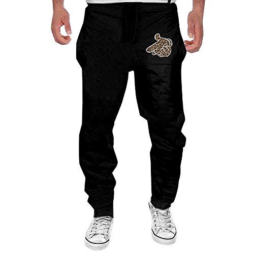 Men Crooks And Castles Hand Leopard Logo Open-bottom Sweatpants XL