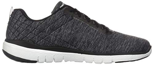 Flex 3 Uomo Bkw Sportive black jection Indoor white Nero Scarpe Skechers Advantage 0 pqFnESpdT