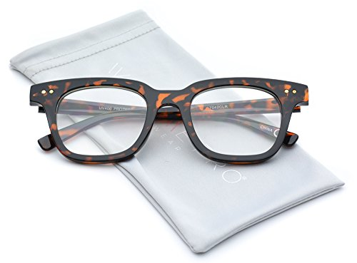 WearMe Pro - Retro Thick Horn Rimmed Clear - Thick Glasses Rimmed Hipster
