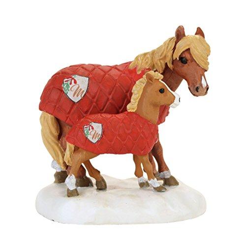 Figurine Mistletoe - Department 56 Accessories for Villages Mistletoe Farm Ponies Figurine