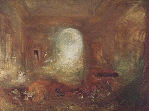 (Home Comforts Peel-n-Stick Poster of Turner, Joseph Mallord William - Interior in Petworth House Vivid Imagery Poster 24 x 16 Adhesive Sticker Poster Print)