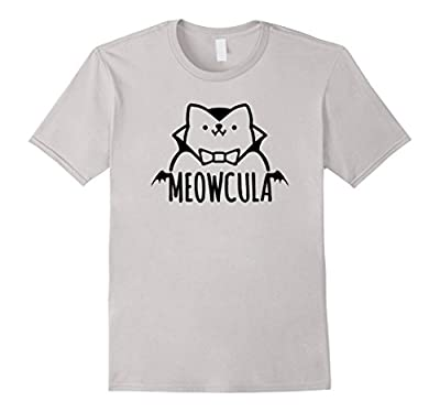 Meowcula Funny Cat Vampire Dracula Halloween Tee Shirt gift