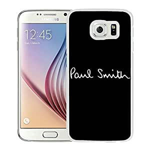 New Antiskid Designed Cover Case For Samsung Galaxy S6 With Paul Smith 1 White Phone Case