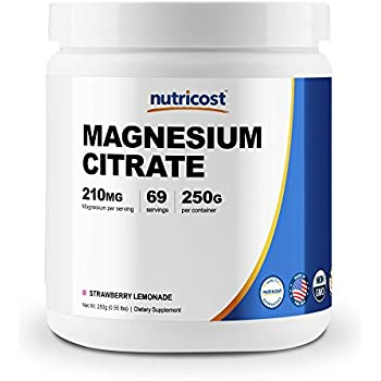 Nutricost Magnesium Citrate Powder (250 Grams) (Strawberry Lemonade)