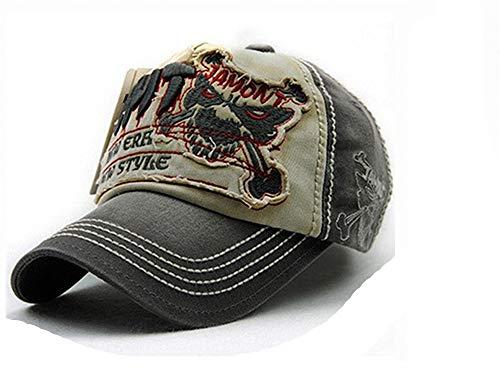 フェローシップ与える音節レジャー野球帽男性用スナップカセット女性用帽子アクセサリー,グレー,56?62cm