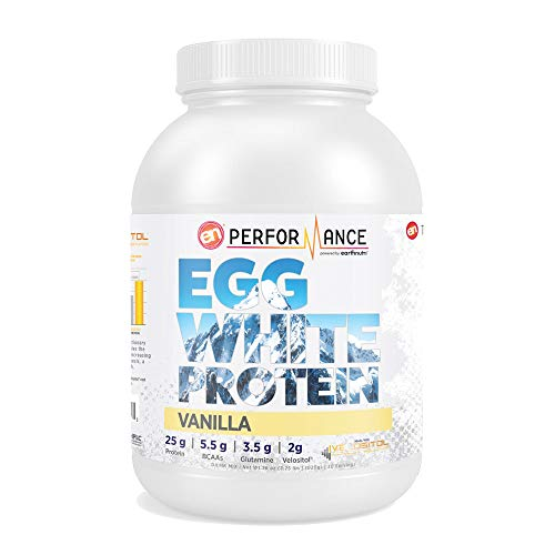 EarthNutri Egg White Protein – Vanilla with 2g of Velositol, 2.24lb Tub, 30 Servings