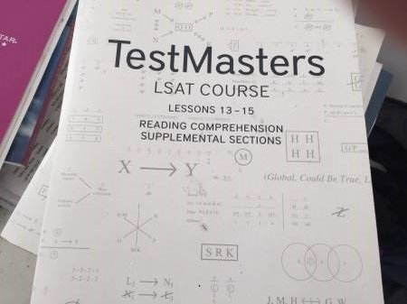 Testmasters LSAT Course (Six books: Lessons 1-4, 6 and 7)