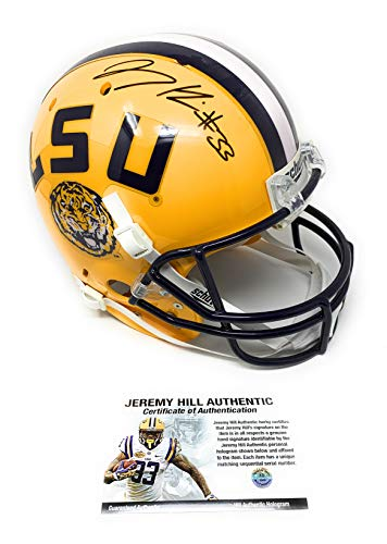 - Jeremy Hill LSU Tigers Signed Autograph Full Size Helmet JHILL Personal Player Certified