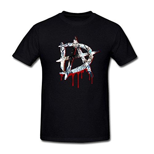 Drong Men's WWE Wrestler Dean Ambrose DA LogoT-Shirt S Black
