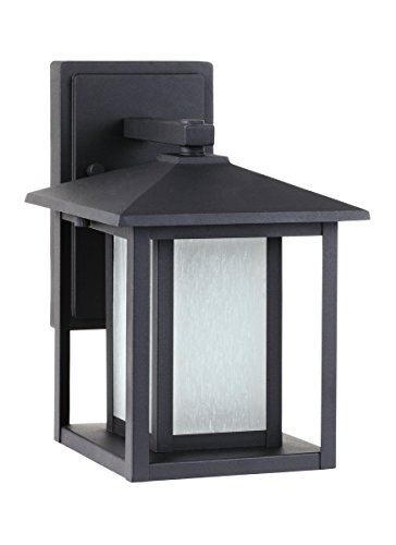 Sea Gull Lighting 89029-12 Hunnington One Light Outdoor Wall Lantern, Black
