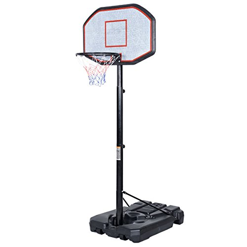 Gracelove 10FT Big 42''x28'' Backboard In/Outdoor Adjustable Height Basketball Hoop System