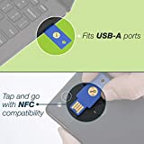 Yubico Security Key NFC - Two Factor Authentication USB and NFC Security Key, Fits USB-A Ports and Works with Supported NFC Mobile Devices – FIDO U2F and FIDO2 Certified - More Than a Password