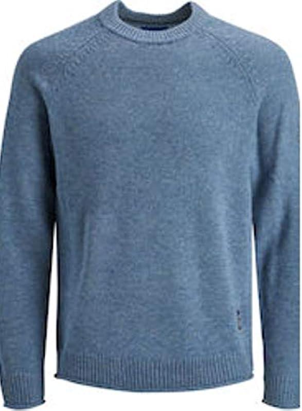 JACK & JONES Jorniles męski sweter, kolor: jasnoniebieski , rozmiar: xxl: MainApps: Odzież