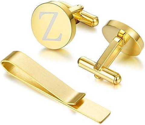 FIBO STEEL Cufflink Business Alphabet product image