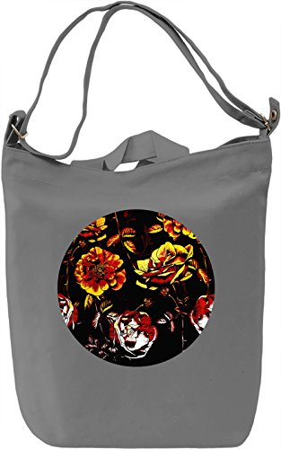 Graphic Flowers Borsa Giornaliera Canvas Canvas Day Bag| 100% Premium Cotton Canvas| DTG Printing|