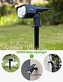 LITOM 12 LEDs Solar Landscape Spotlights, IP67