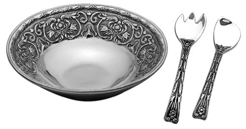 Wilton Armetale William and Mary 3-Piece Salad Set, Round, 12-1/2-Inch
