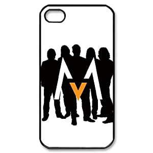 J-LV-F Customized Print Maroon 5 Pattern Back Case for iPhone 4/4S