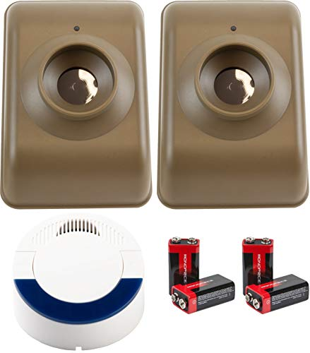 Dakota Alert DCMA-4000 Wireless Motion Detector Alarm System Kit Bundle with DCMT-4000 Passive Infrared Motion Detector Transmitter, and 4 9V Alkaline Batteries