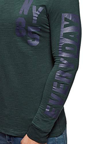En Imprimé Vert Ultra Homme shirt Avec Oodji Sweat 6979p Coton RPqSI1w