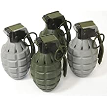 Set of 4 Kids Toy B/o Army Style Grenades with Light and Sound for Pretend Play