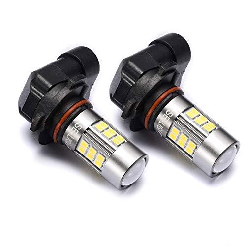 9145/9140/H10/9045/9040 LED Fog Lights Bulbs SEALIGHT Xenon White 6000K, 27 SMD, 1 Yr Warranty (2009 Mustang Fog Lights)