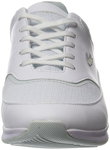 Bianco wht 118 Lacoste Spw Sneaker 1 Chaumont Donna lt Blu agaqYP