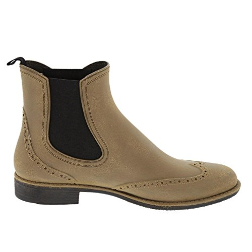 Womens khaki Bockstiegel Boots Wellington Chelsea gebürstet RcZWdqvfS