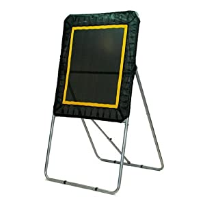 Champion Sports Lacrosse Pro Bounce Back Target (Black) 4'x3' rebound surface area. (Lacrosse Target(Bundle))