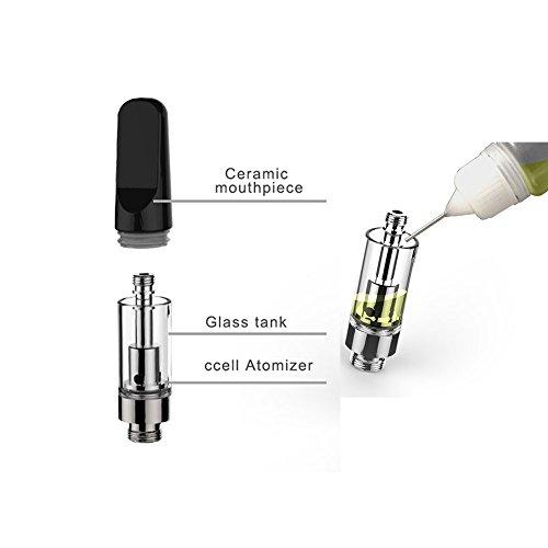 Pack of 2) C2 CBD Oil Vape Tank Glass Refillable Vape