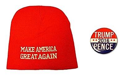 Make America Great Again Beanie & Button Combo Donald Trump 2016