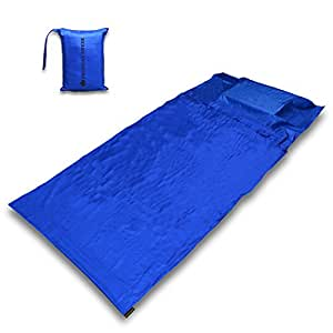 The Friendly Swede Travel and Camping Sheet Sleeping Bag Liner (Cobalt)