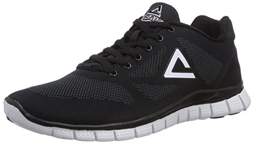 Peak Sport Europe F Lites Unisex-Erwachsene Sneakers Schwarz (Black/White)