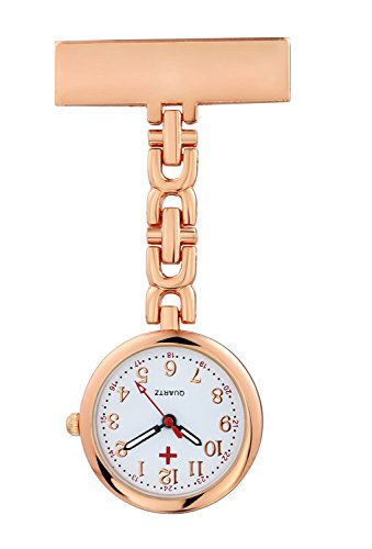 (Pack of 3) Women's Fob Watch with Quartz Movement Clip Pin Brooch Hanging Pocket Watch by autulet (Image #6)