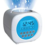 "Discovery Kids Color Changing Digital Star Projection LCD Alarm Clock w/ Built-in Sound Machine, Nature Recordings for Sleep, Galaxy Display On Ceiling/Walls, Volume Control, Requires 3 ""AA Batteries: more info"