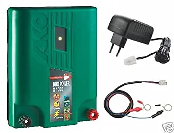 Zaunprüfer AKO Duo Power X1000 12//230V Duo Weidezaungerät 1,0 Joule