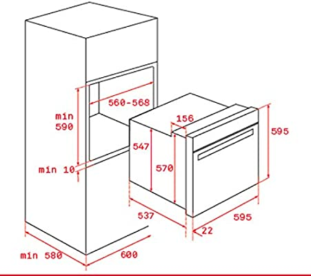 Teka IOVEN P - Horno (Medio, Horno eléctrico, 70 L, 3552 W, 70 L ...