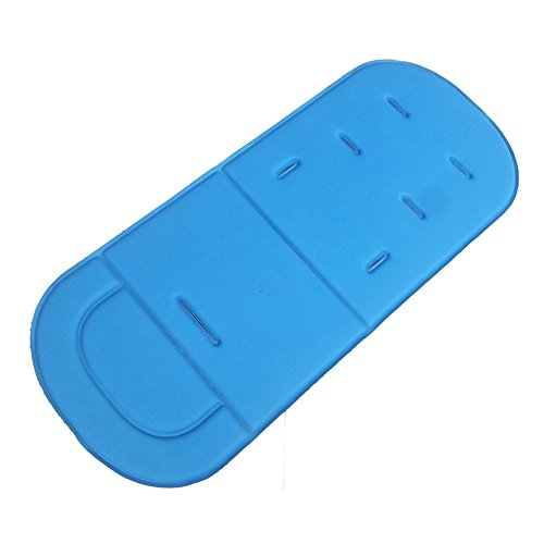 (❤️Jonerytime❤️Universal Baby Kids Stroller Pram Pushchair Car Seat Liner Pad Cushion Mat New (Sky Blue))